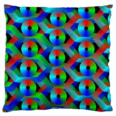 Bee Hive Color Disks Large Cushion Case (two Sides)