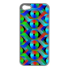 Bee Hive Color Disks Apple iPhone 5 Case (Silver)