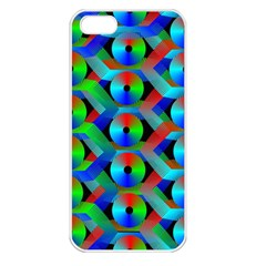 Bee Hive Color Disks Apple Iphone 5 Seamless Case (white)