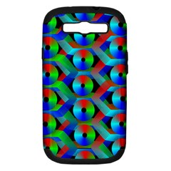Bee Hive Color Disks Samsung Galaxy S Iii Hardshell Case (pc+silicone)