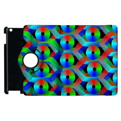 Bee Hive Color Disks Apple Ipad 3/4 Flip 360 Case