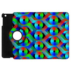 Bee Hive Color Disks Apple Ipad Mini Flip 360 Case
