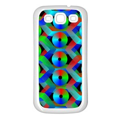 Bee Hive Color Disks Samsung Galaxy S3 Back Case (White)