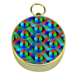 Bee Hive Color Disks Gold Compasses