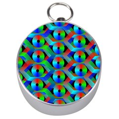 Bee Hive Color Disks Silver Compasses