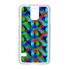 Bee Hive Color Disks Samsung Galaxy S5 Case (white)