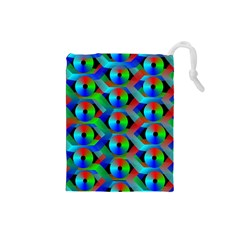 Bee Hive Color Disks Drawstring Pouches (Small)