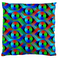 Bee Hive Color Disks Standard Flano Cushion Case (two Sides)