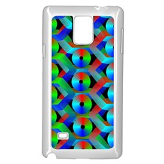 Bee Hive Color Disks Samsung Galaxy Note 4 Case (white)