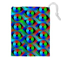 Bee Hive Color Disks Drawstring Pouches (xxl)