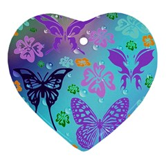 Butterfly Vector Background Ornament (Heart)