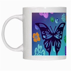Butterfly Vector Background White Mugs