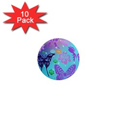 Butterfly Vector Background 1  Mini Magnet (10 pack)