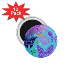 Butterfly Vector Background 1 75  Magnets (10 Pack)