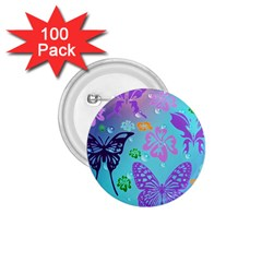 Butterfly Vector Background 1 75  Buttons (100 Pack)