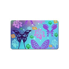 Butterfly Vector Background Magnet (Name Card)
