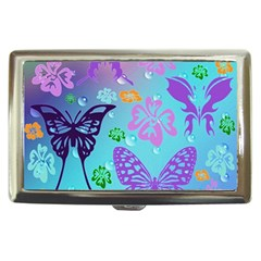 Butterfly Vector Background Cigarette Money Cases