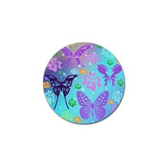 Butterfly Vector Background Golf Ball Marker (4 Pack)