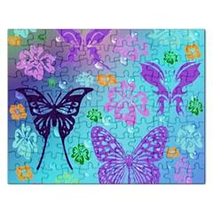 Butterfly Vector Background Rectangular Jigsaw Puzzl