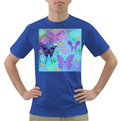Butterfly Vector Background Dark T Shirt