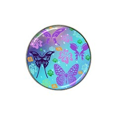 Butterfly Vector Background Hat Clip Ball Marker (4 pack)