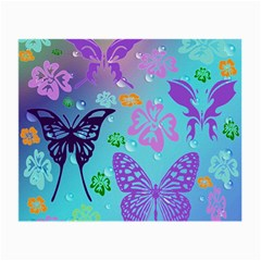 Butterfly Vector Background Small Glasses Cloth
