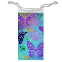 Butterfly Vector Background Jewelry Bag