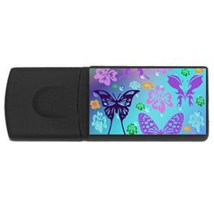 Butterfly Vector Background Usb Flash Drive Rectangular (4 Gb)