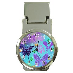 Butterfly Vector Background Money Clip Watches