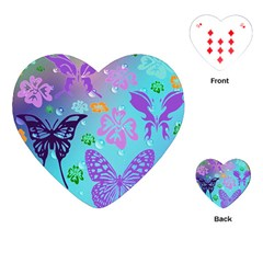 Butterfly Vector Background Playing Cards (Heart)