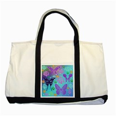 Butterfly Vector Background Two Tone Tote Bag