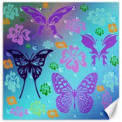 Butterfly Vector Background Canvas 12  X 12