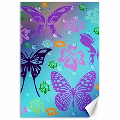 Butterfly Vector Background Canvas 12  X 18
