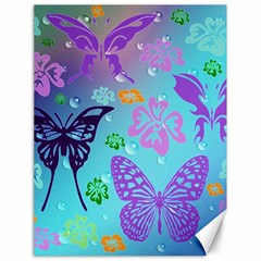 Butterfly Vector Background Canvas 18  X 24