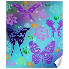 Butterfly Vector Background Canvas 20  X 24