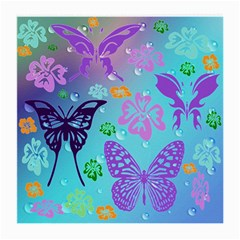 Butterfly Vector Background Medium Glasses Cloth (2 Side)