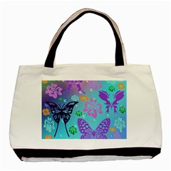 Butterfly Vector Background Basic Tote Bag (two Sides)