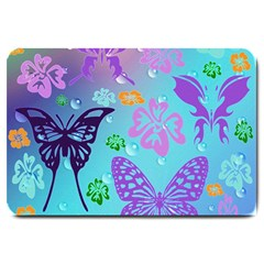 Butterfly Vector Background Large Doormat