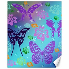 Butterfly Vector Background Canvas 11  X 14