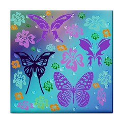 Butterfly Vector Background Face Towel