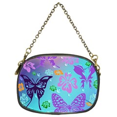 Butterfly Vector Background Chain Purses (one Side)