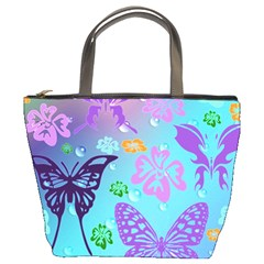 Butterfly Vector Background Bucket Bags