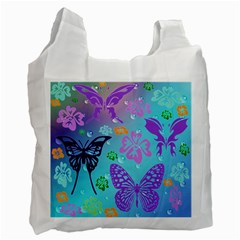 Butterfly Vector Background Recycle Bag (two Side)