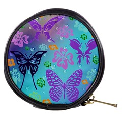 Butterfly Vector Background Mini Makeup Bags