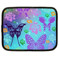 Butterfly Vector Background Netbook Case (xl)