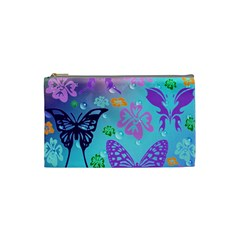 Butterfly Vector Background Cosmetic Bag (Small)