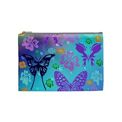 Butterfly Vector Background Cosmetic Bag (medium)