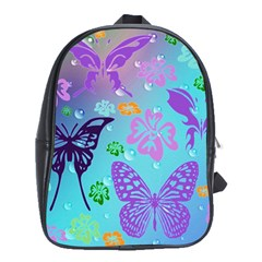 Butterfly Vector Background School Bags(large)