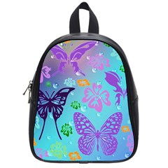 Butterfly Vector Background School Bags (small)
