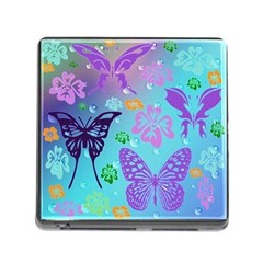 Butterfly Vector Background Memory Card Reader (square)